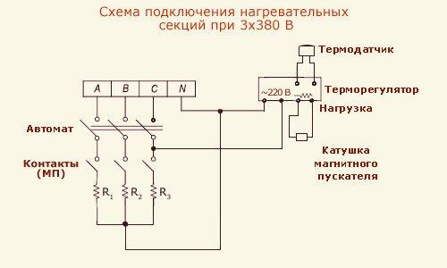 магнитного пускателя (цепь
